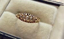 Lovely Ladies Antique Solid 18 Carat Gold Five Stone Diamond Ring 18CT - M