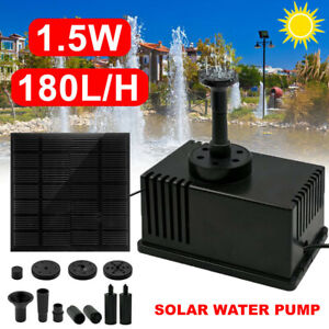 1.5W Solar Power Water Pump Fountain Submersible Pool Panel Home Garden Pond