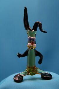 Glasfigur Hase Osterhase Tierfigur Waldtier Figur aus Glas Glasobjekt Muranoglas