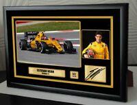 "Esteban Ocon Renault F1  Framed Canvas Signed Print ""Great Gift"""