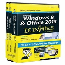 NEW Windows 8 and Office 2013 for Dummies, Book + 2 DVD Bundle by Andy Rathbone