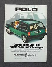 G048-Advertising Pubblicità-1984 - POLO VOLKSWAGEN C'E' DA FIDARSI
