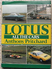 LOTUS All The Cars Book Anthony Pritchard 1992 Reprint