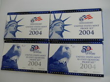 2004 PROOF MINT SET & PROOF QUARTERS