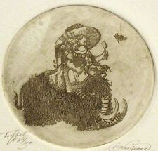 """Norwood """"Tuffet"""" Signed & Numbered Artwork Etching, children's fairytales muffet"""