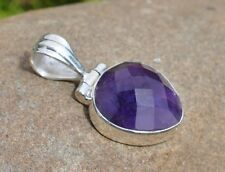 AMETHYST PENDANT 925 STERLING SILVER WITH GIFT BAG