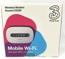 Three Huawei E5220 3G Mobile Broadband Wireless Wi-Fi Hotspot Modem NEW SEALED
