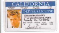 Brad Pitt star of Benjamin Button Fight Club 12 Monkeys ID card Drivers License