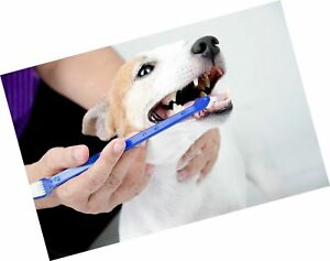 Duke's Pet Products Dog Toothbrush Set Double Sided Canine Dental Hygiene Bru...