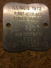 New listing 1972 Illinois Dip Net 1972 Hoop Net, Basket Trap Or Turtle Trap License