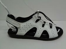 Ecco Size 5 to 5.5 Eur 36 BLUMA TOGGLE White Leather Sandals New Womens Shoes