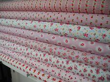 8x Stoff Rosa Rosen Rosalie Stoffpaket no18 Stoffe Patchwork Shabby chic