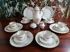 ROSENTHAL Sanssouci MOOSROSE, edles 21 teiliges Kaffeeservice 6 Pers.