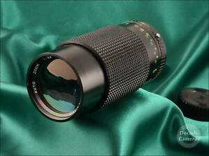 Reduced! £7 Pentax K Sirius Auto MC 80-200mm fast f3.9 Zoom - Excellent - 9886