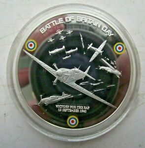 2010 WW2 BATTLE OF BRITAIN PROOF COLOURED PICTURE MEDALLION BATTLE OF BRITAIN