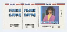 Frank Zappa Ticket 1982 Jul 14 Stadio Communale Favorita Palermo Italy Unused