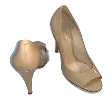 THEORY Nude Patent Peep Toe Pumps Size 38.5