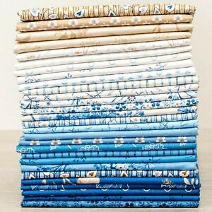 Blue Sky 28 Fat Eighth Bundle by Laundry Basket Quilts for Andover Fabrics
