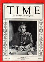 1937 Time August 16- Normandie sets speed record; Maria Montessori; Pierce Arrow
