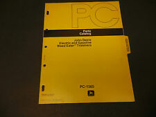 John Deere Parts Catalog No. Pc-1565 1977 Weed Eater Trimmers 23 pages