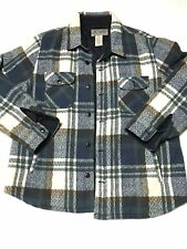 LUCKY BRAND MENS BLUE & BROWN PLAID WINTER COAT JACKET QUILT LINED XXL