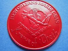 """1999 Thoth 2"""" Red Aluminum Mardi Gras Doubloon"""