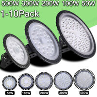 UFO LED High Bay Light 500W 300W 200W 100W 50W Watt Warehouse Shop Light Fixture