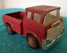 """Vintage MARX Toys MCMLXXI 1971 Red Truck Metal Japan Toy 6.25"""""""
