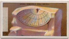 Greek Hemicycle Sun Dial 400 B.C Clock Time 1920s Ad Trade Card
