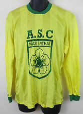 Retro Football Shirt Soccer Jersey Vintage French Yellow Trikot Maillot L Large