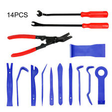 14pcs Car Trim Removal Plier Tool Kit Pry Clip Radio Door Panel Fastener Remover