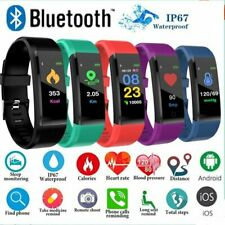 Sports Blood Pressure Heart Rate Fitness Smart Watch Wrist Bracelet Waterproof