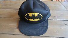 Vintage Black and Yellow Batman Hat