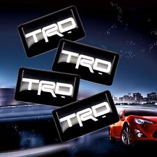 4 Small Toyota TRD Racing Car Badge/Sticker/Emblem/Adhesive/Logo/18mm/Supra