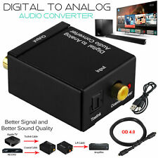 Audio Adapter Converter USB Digital Optical Coaxial Toslink To Analog RCA L/R UK