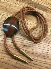 Naked Gemstone Agate Bolo Tie F1