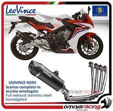 Leovince LV ONE Nero impianto scarico completo 4:2:1 Honda CB650F/CBR650F 14>16