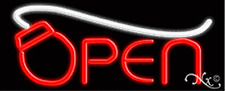 "Brand New ""Open"" 32x13 W/Computer Logo Real Neon Sign w/Custom Options 10598"