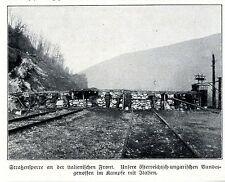 1916 * Österreichische Strassensperre an der italienischen Front *  WW1