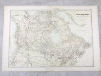 1882 Antico Mappa Del Canada Britannico Coloniale Impero Originale 19th Secolo