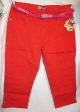 NEW! Apple Bottoms 18 dark orange capris cropped pants jeans stretch (C43)