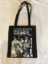 THE CRAMPS BLACK COTTON TOTE BAG
