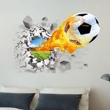 3D Calcio Pallone da adesivo parete per Camera decorazione