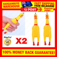 2pcs Shrilling Chicken Screaming Chicken Dog Toys Cat Puppy Rubber Chew Toy