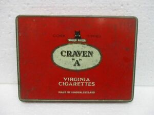 """Ancienne boite de cigarettes publicitaire """" CRAVEN  """" A """""""