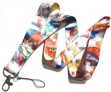 SAILOR MOON CRYSTAL LANYARD Venus Mercury Jupiter Mars neck strap key ring ID 2Z