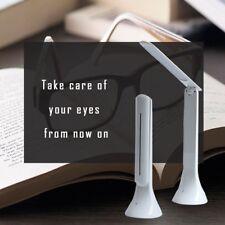 Foldable White Manicure Salon LED Nail Lamp Desk Table Reading Light Slimline