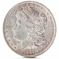 1884 O Morgan Silver One Dollar New Orleans Silber Münze USA Amerika Coin Errors