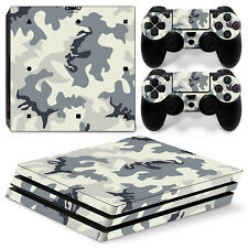 Sony PS4 Playstation 4 Pro Skin Aufkleber Schutzfolie Set - Camouflage 2 Motiv