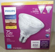 Philips PAR30S LED Dimmable Spot Flood Light Bulb 75W 75 Watt Bright White